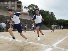 上智福岡 ミニ体育祭 男子リレー